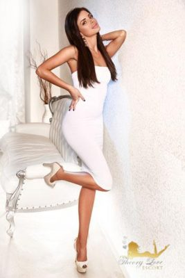 Ellyn is dressed white, especially that long white dress looks gorgeous at her