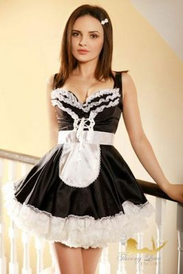 French Maid Michelle is ready to clean your apartment